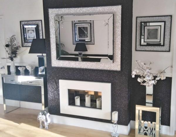 Glitter and White Living Room