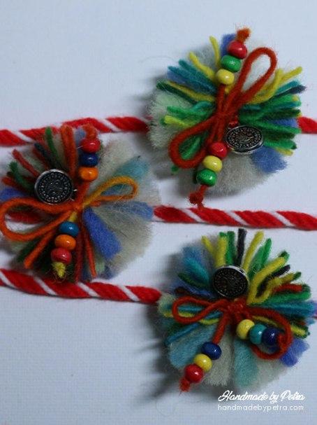 Мартеница за ръка с паричка - handmadebypetra.com