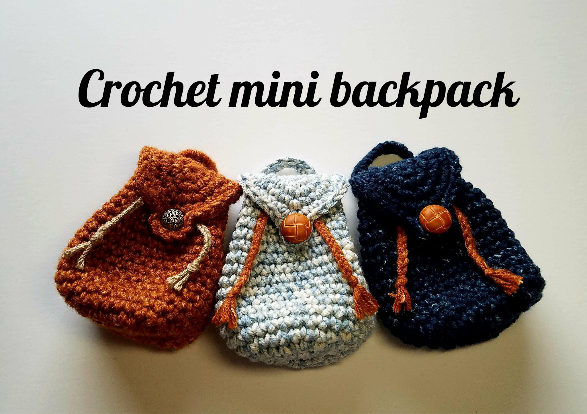 Crochet Backpack Free Patterns for Big Kids&Adults | 1444x2048