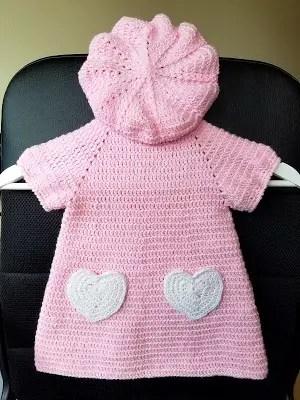 i love you crochet dress and beret