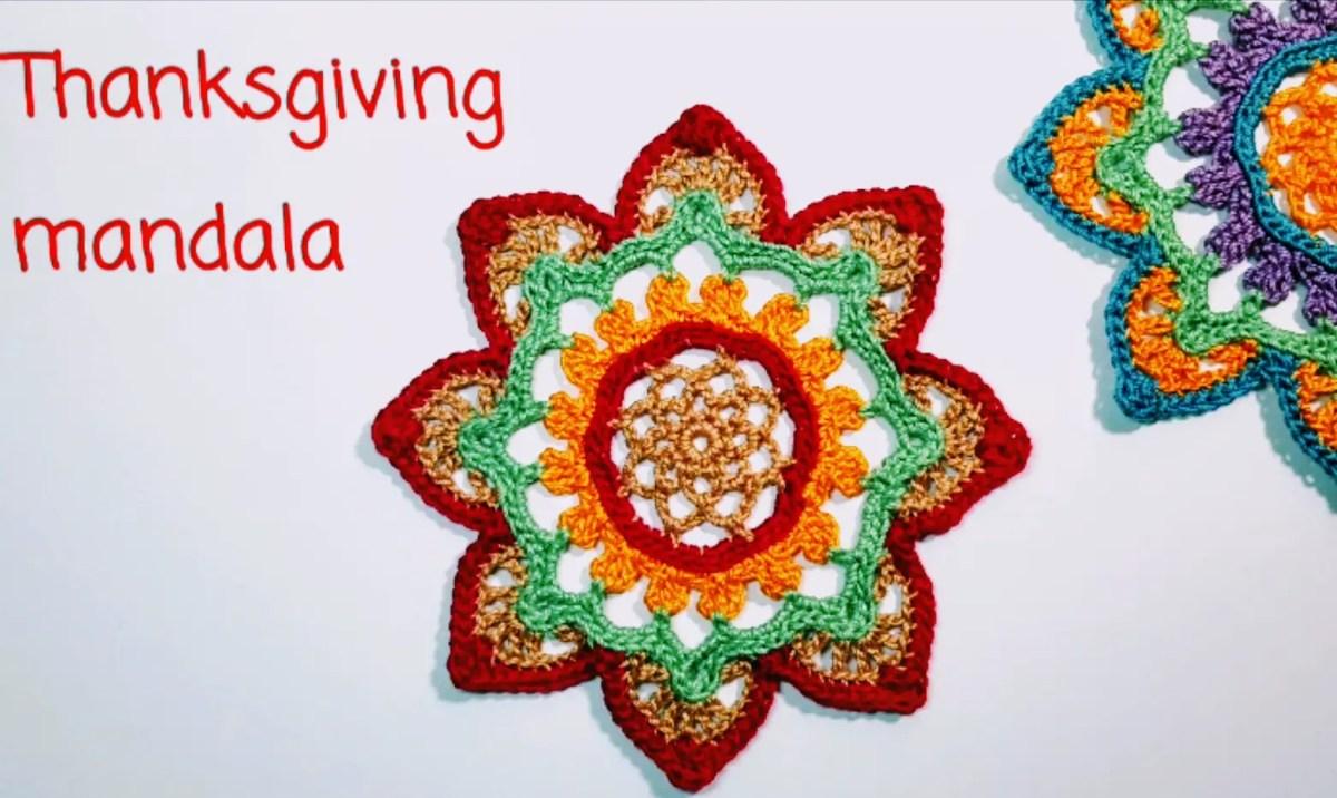 crochet thanksgiving mandala