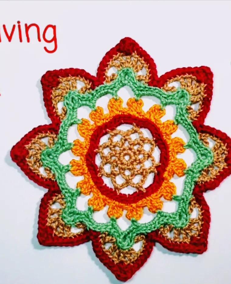 How to crochet Thanksgiving mandala