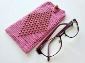 crochet beaded eyeglass case