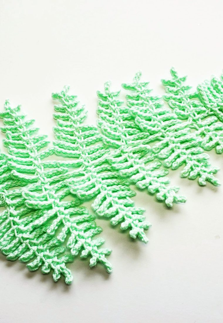 How to crochet fern leaf