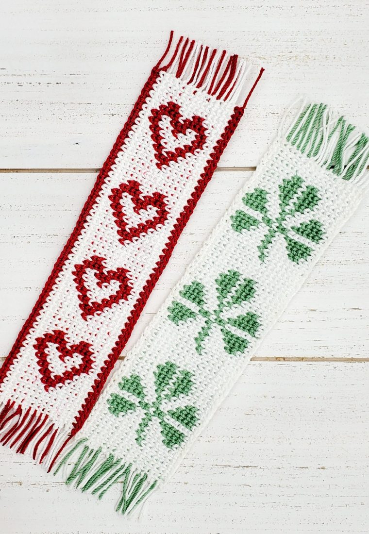 How to crochet Heart & Leaf Bookmarks