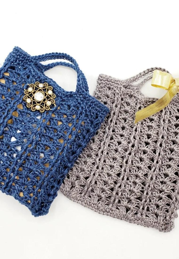 How to crochet Hemp Gift Bag