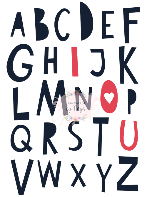 I Love You Abc Svg Dxf Png Handmade By Toya