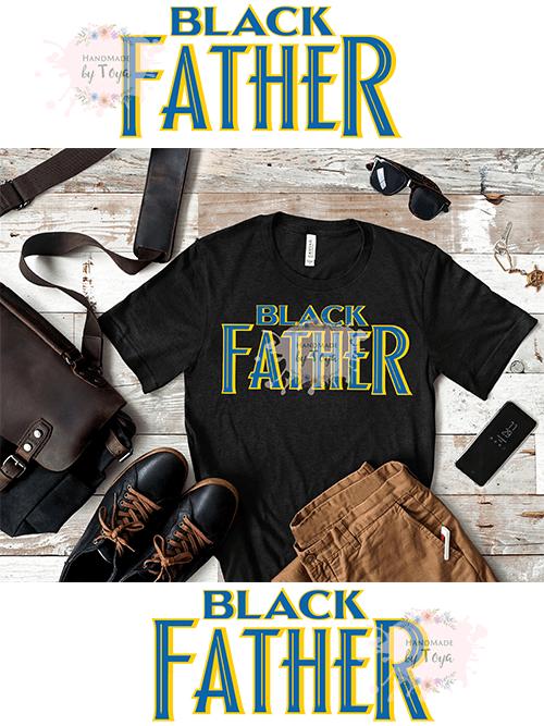 Black Father SVG, DXF & PNG (INCLUDES MOCKUP)