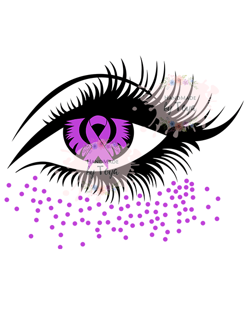 Awareness Ribbon Eye Svg Handmade By Toya