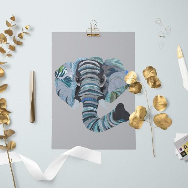 Elephant A4 Wall Art Print