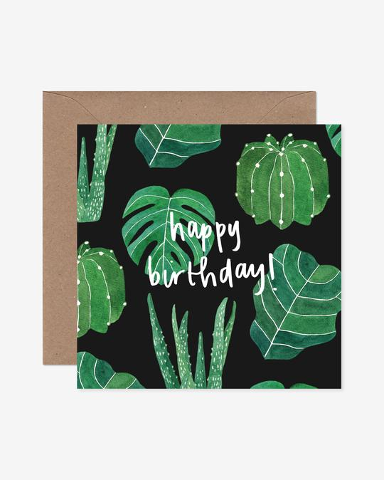 House Plants Happy Birthday Greeting Card Katrina Sophia