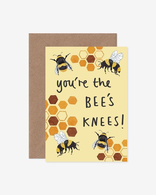 You're The Bees Knees Bees and Honeycomb Greeting Card