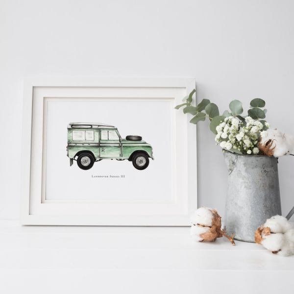 Land Rover Print Series 3 Watercolour Illustration