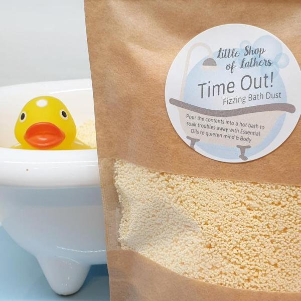 Time Out Lemon and Sandalwood Bath Bomb Fizzing Dust