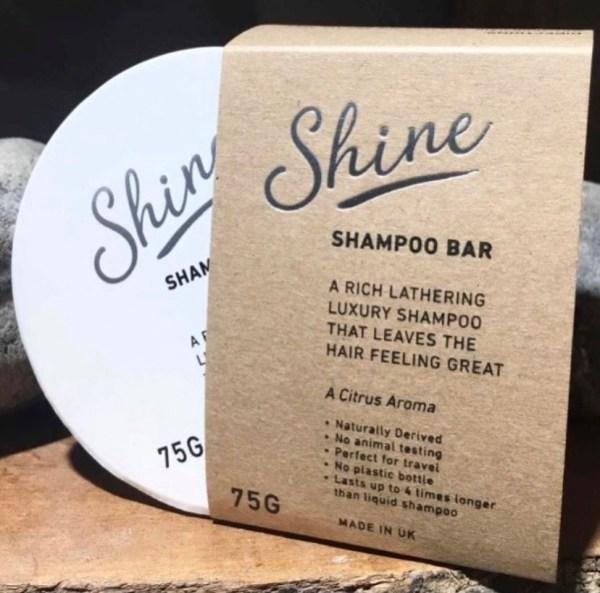 Shine Shampoo Bar Handmade Vegan Plastic Free