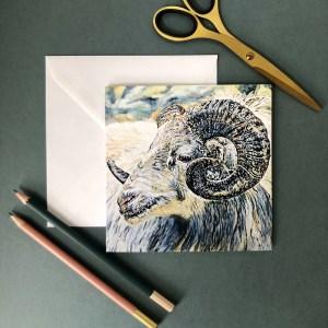 Sarah Perkins Ram Greeting Card