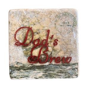 Dad's Brew Natural Stone Coaster