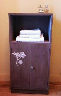 1940's cabinet with découpage