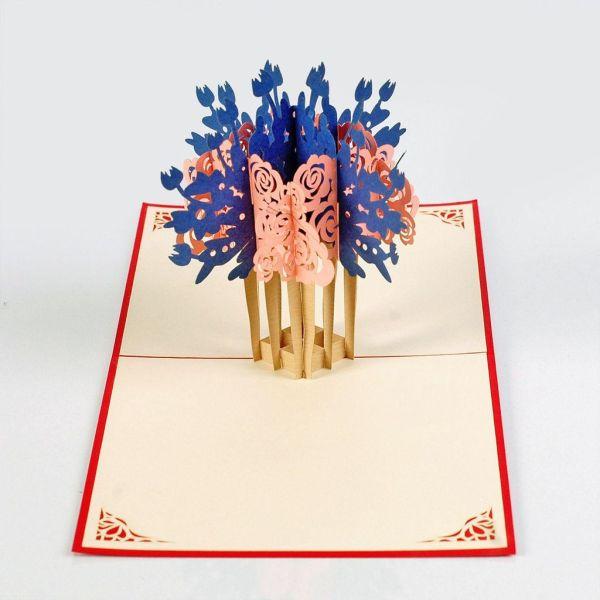 Flower card for women