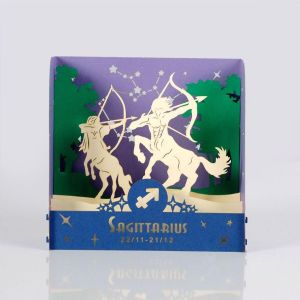 sagittarius zodiac popup card