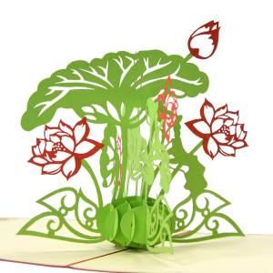 Lotus flower 3D-card