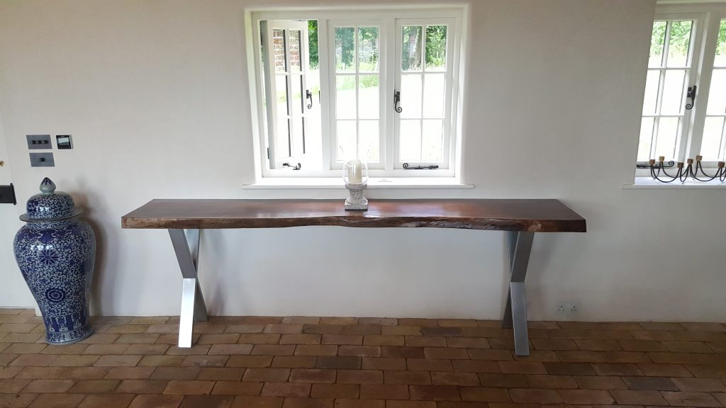 American Walnut console table, Suffolk
