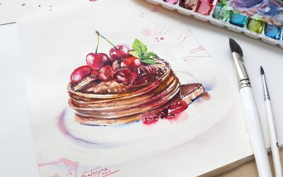 Watercolour Masterclass – Desserts