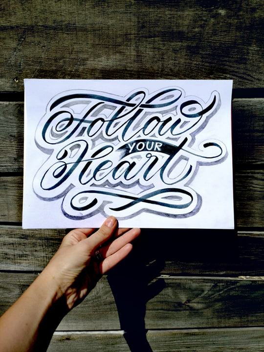 Hand-lettering with Julijascript