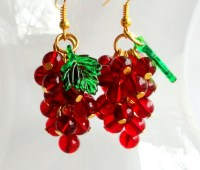 How to make grapes cluster earrings - Something Hand Made