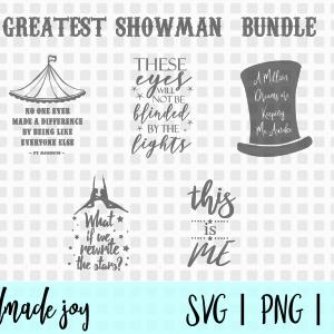 greatest showman svg