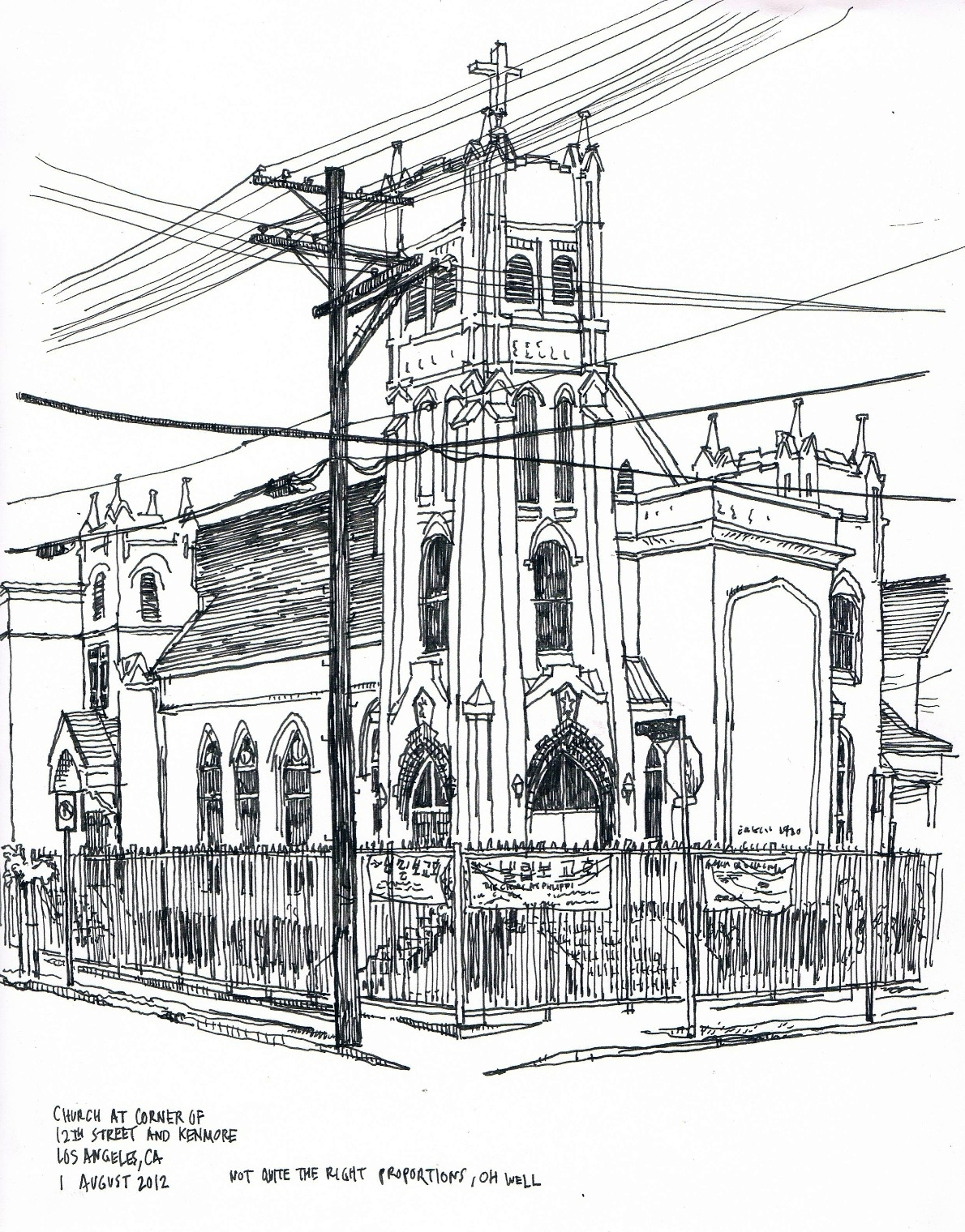 Church At 12th And Kenmore 1 August