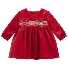 red velvet dress for little girls