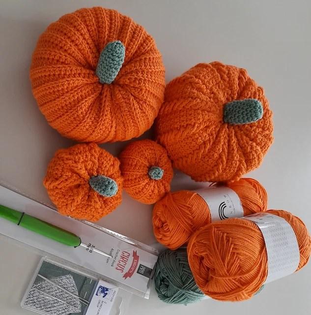 pumpkin crochet project box