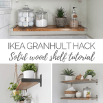 Ikea Granhult Wood Shelf Hack Handmade Weekly