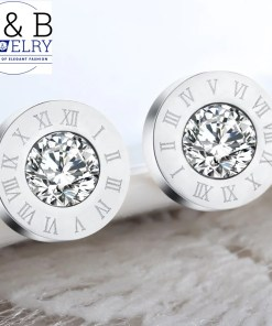 Cercei Elegant Beauty Numerals Crystal Silver Color