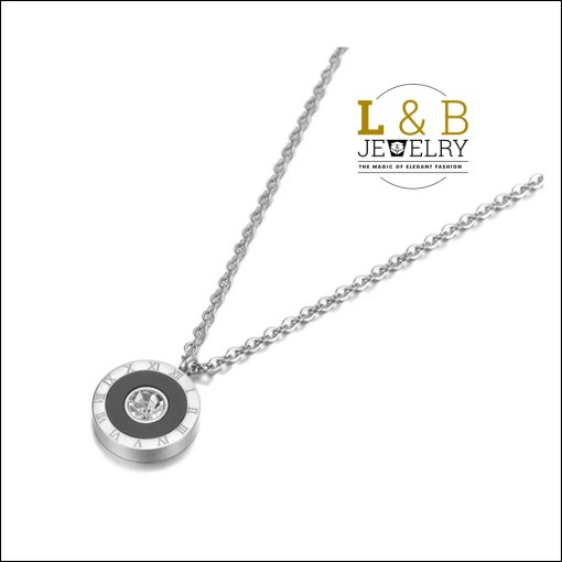 Colier Elegant – Beauty Numerals-Silver Color Stainless Steel