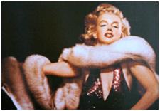 Marilyn Monroe Wrapped in Fox Fur