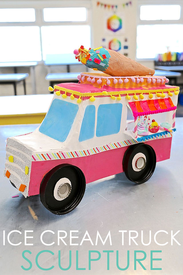 Diy Ice Cream Truck : cream, truck, HANDMAKERY, Cream, Truck, Sculpture