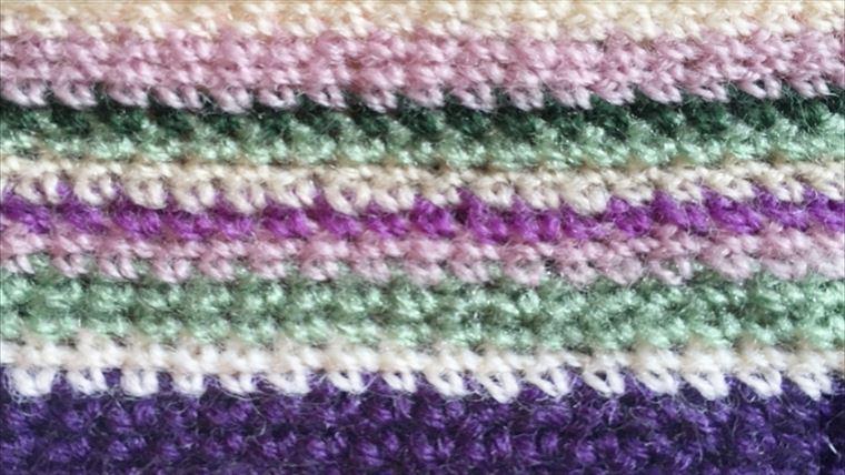 カラフル☆模様編みのおくるみの編み図がすぐ分かる!