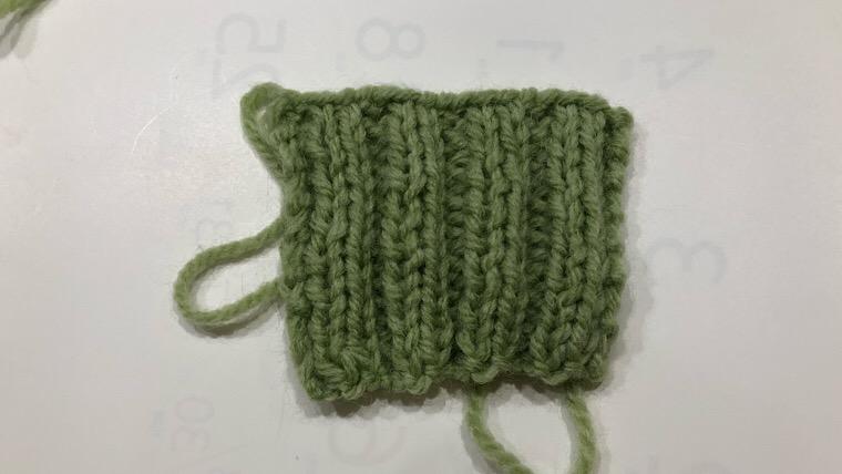棒編み 2目ゴム編み