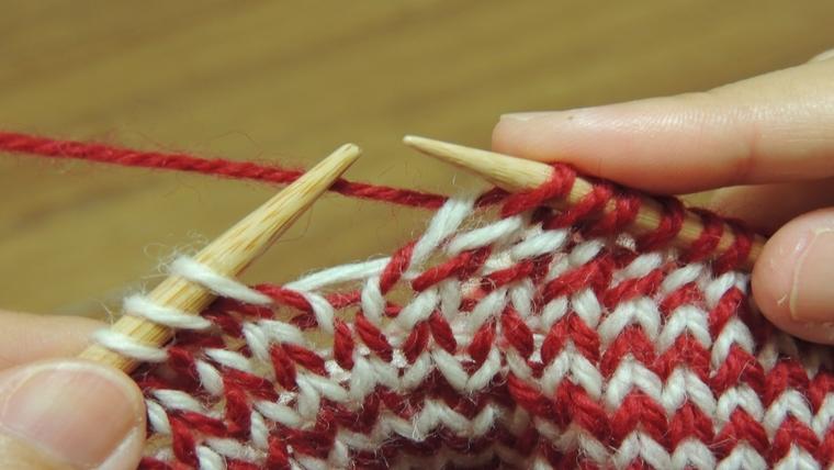 棒編みの模様で色って?どうするの?