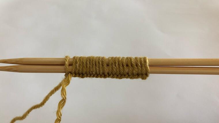リーフ編み