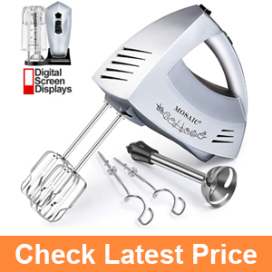 Hand Mixer Electric MOSAIC 300W 6 Speeds Digital Kitchen Mixer