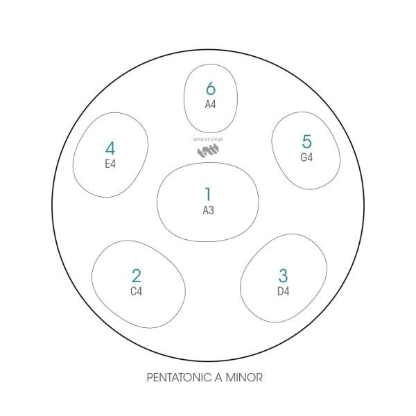 ハンドパン 6和音モデル 48 cm • Handpan Pentatonic A • フランス製 • New Design