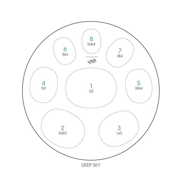 ハンドパン 8和音モデル 60 cm • Handpan Celtic minor • フランス製 • New Design