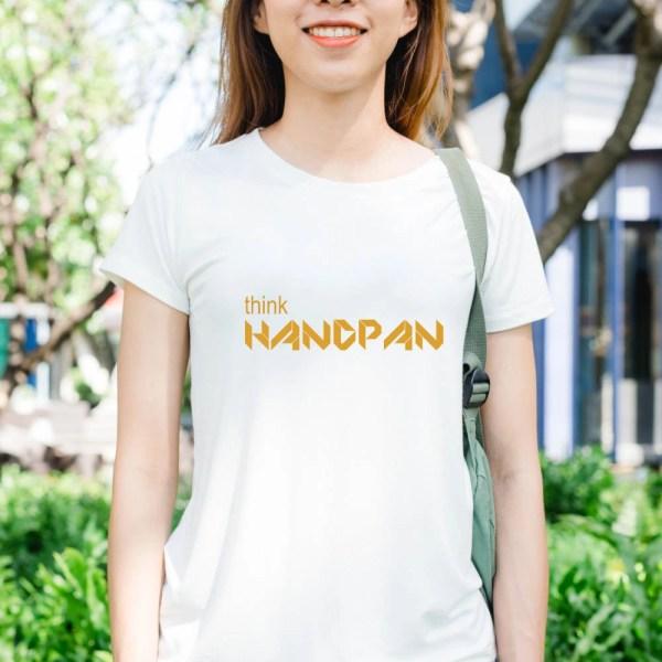 限定版「Handpan Lifestyle」Tシャツ-シリーズ001 Origami Blanc