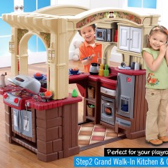 Step 2 Play Kitchens Waffle Weave Kitchen Towels Grand Walk In Small House Interior Design Kids Best Reviews And Sales Grillin Set