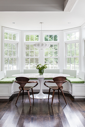 Customize your kitchen and dining spaces with banquet seating crafted by Handrahan Remodeling