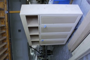 Cabinets being built in our millshop