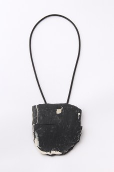 Debbie Adamson> Schist necklace. Plastic, rubber. 2016